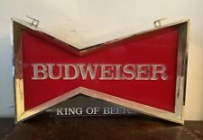 Vintage 60s/70s Budweiser Bud Beer Bowtie Electric Light Fluorescent Window Sign