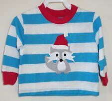 BN Kelly's Kids Ryan Santa Fox Applique Rugby Stripe Shirt Boy's Sz 12M