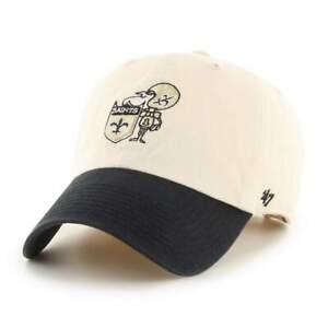New Orleans Saints NFL Legacy 100 Patch Clean Up Hat Cap Classic Sir Saint Logo