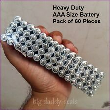 *New* Heavy Duty Dry Battery Pack of 60 Pieces Sealed Pack Size AAA Battery