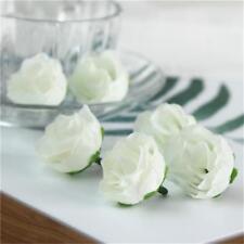 50pcs lot Artificial Flowers Silk Rose Heads Bulk Party Banquet Wedding Decor