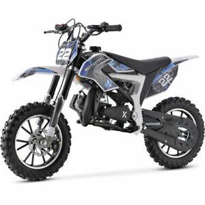 2020 New Kids Mini Dirt Bike Gas Power 2Stroke 50cc Motorcycle Off Road Pit Bike