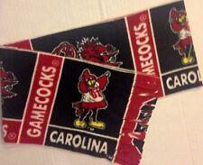 "CAROLINA GAMECOCKS FLEECE SCARF-NFL- SOFT - HANDMADE - 7 1/2"" WIDE x 60"" LONG"
