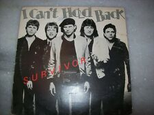 """PROMO 7"""" Single P/S 45 - SURVIVOR - I CAN'T HOLD BACK - WITH INSERT -84-BRAZIL"""