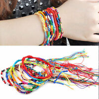 20pcs  Boho Wristband Handmade Braid Multi-color Friendship Cords Bracelets