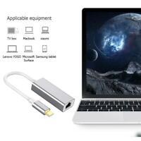 USB C auf Ethernet Adapter Typ C auf RJ45 Netzwerk Adapter Gigabit LAN MacBook❀