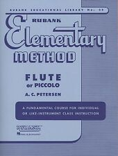RUBANK ELEMENTARY METHOD FOR FLUTE/PICCOLO BAND MUSIC BOOK BRAND NEW ON SALE!