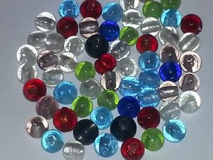 12MM Handmade Silver Foil Multi Color Glass Round Spacer Loose Beads About 25PCS