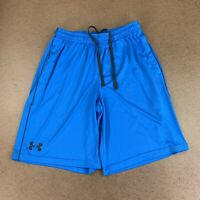 Under Armour Men's Size Medium LOOSE Blue Elastic Drawstring Athletic Shorts