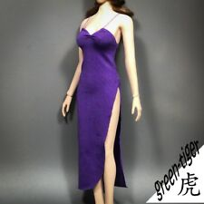 1:6 Scale ace Female figure parts A811 Pur - Purple Sexy Long Tail Gown