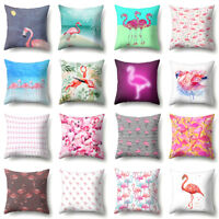 EE_ BL_ Fashion Flamingo Throw Pillow Case Sofa Bed Cushion Cover Home Car Decor