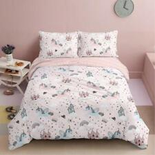All Size Bed Quilt Duvet Doona Cover Set 100% Cotton Bedding Pillowcase Unicorn