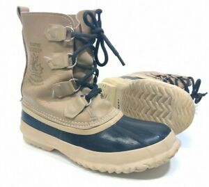 Sorel Kaufman Manitou Snow Boots Canada Buff Tan Leather Women 7 Lace Up Winter