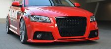 RS3 Grill Audi A3 8P S3 Sline 2008-2012 Kühlergrill Wabengrill Hochglanz Schwarz