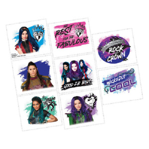Disney Descendants 3 Tattoos, 1 sheet with 8 squares - Party Fillers
