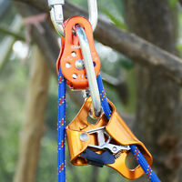 Single Pulley Ascender Rope Grab Carabiners for Rigging Hauling Pulley System