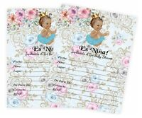 Girl Baby Shower Invitaciones Para Niña Español Invitations Princesa Nina QTY 20