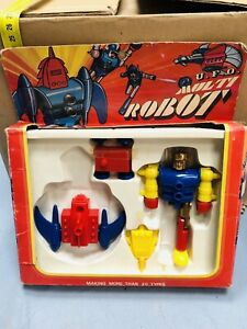 MULTI ROBOT UFO MADE IN HONG KONG TOY VINTAGE Per Ricambi