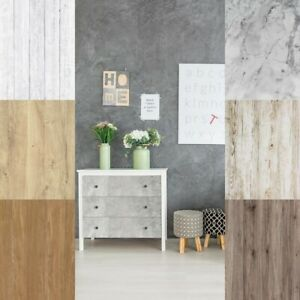 Klebefolie Holz Dekor Optik Tapete 7€m² Selbstklebende Möbel Tür Küchen Folie 3D