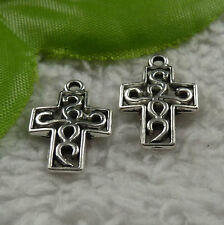free ship 144 pcs tibet silver cross charms 19x13mm #4173