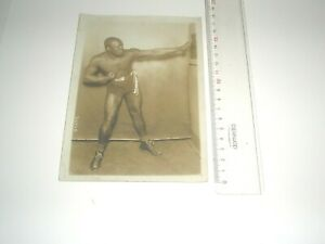 Original 1914 Press Photo boxing , JIM JOHNSON