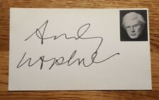 Andy Warhol Signed Autographed Index Card - Bold - RARE!