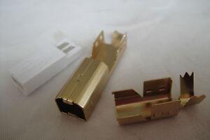 5xGold-Plated Printer USB B Male Plug 2.0 Assembly Rewireable Repair ki