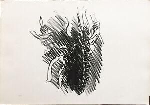 Ennio MORLOTTI  PANNOCCHIA  litografia 50x70 firmata numerata 9/99  anno 1974