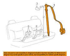 GM OEM Rear Seat Belts-Belt & Retractor Right 89022615
