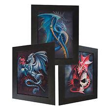 3 Dimension 3D Lenticular Picture Dragon Drake Skull Rose Dungeon Dark Magic