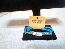 "New listing Personalized ""Julie"" Choker Style Ceramic Kiln Fired Fashion Jewelry Necklace"