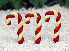 Miniature Christmas Candy Cane ~ Set of  3 ~ Fairy Garden ~ Christmas Ornament