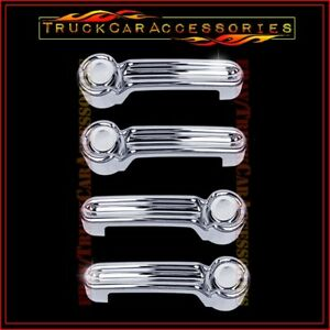 For JEEP Liberty 2008 09 10 11 12 2013 Chrome 4 Door Handle Cover stick on over