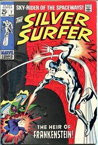 Silver Surfer #7 VF Heir of Frankenstein Stan Lee Buscema (Marvel 1969)