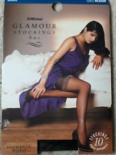 M&S St Michael Glamour 10 Denier Diamonte Black Motif  Stockings M Black