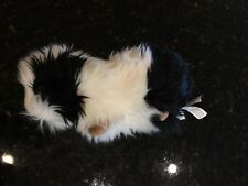 Hansa black white soft plush guinea pig stuffed animal RARE 8""