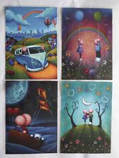 Scott Bateman print collection of four prints A5 450gsm