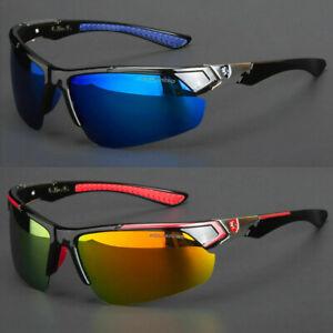 New Men Polarized Sunglasses Sport Wrap Around HD Mirror Driving Eyewear Glasses
