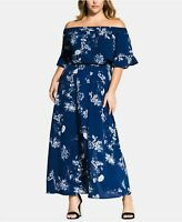 $129 City Chic Women's Plus 20W, 24W Floral Garden Maxi Off Shoulder Dress