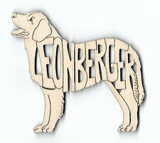 Leonberger Dog laser cut wood Magnet