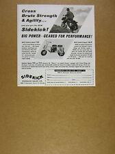 1962 SideKick 145 trail bike motorcycle minibike photo vintage print Ad