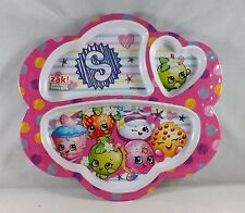 Zak Designs 3-Section Plate Featuring Shopkins