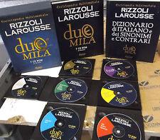 ENCICLOPEDIA MULTIMEDIALE RIZZOLI LAROUSSE DUEMILA con 7 Cd-ROM + DIZIONARIO