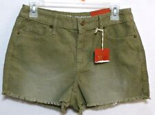 """New with Tags!  Mossimo Ladies Tanglewood Green Corduroy Shorts Sz 4  2"""" Inseam"""