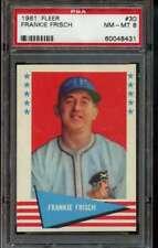 Frankie Frisch 1961 Fleer #30 PSA 8 NM-MT Graded Baseball Card Cardinals