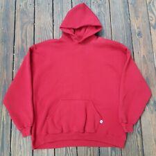 Vintage Russell Athletic Red Hoodie Sweatshirt Boxy Oversized 50/50 Y2K Blank