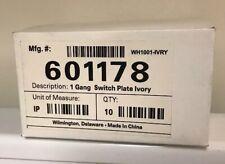 601178 1 Gang Switch Wall Plate Ivory Leviton 10 Qty NEW