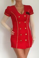 Sexy Roll Play Red Ann Summers Mile High Airways Hostess Stewardess Dress Size 8