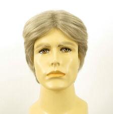 Perruque homme 100% cheveux naturel blanc méché gris THIBAUT 51