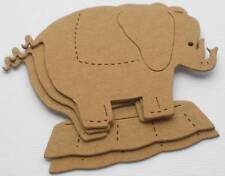 """{4} Circus *Elephant* Bare Chipboard Die Cuts - 4 5/8"""" wide x 3 3/8"""" tall"""